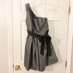 Forever 21 Black/Gray Leopard Dress